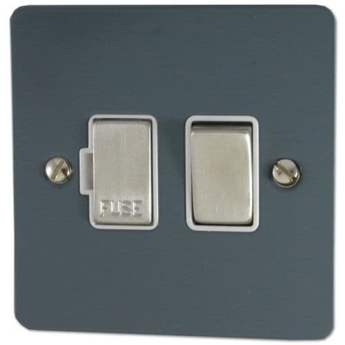 G&H FDG257 Flat Plate Dark Grey 1 Gang Fused Spur 13A Switched